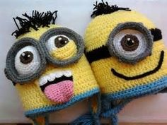 crochet minion hat pattern free - Bing Images ༺✿ƬⱤღ https://www.pinterest.com/teretegui/✿༻