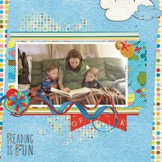 Reading is Fun! using Look, a Book! Bundle at www.pixelscrapper.com