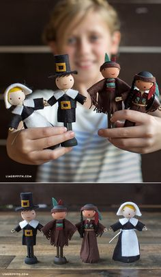 #DIYcraft #Clothespindolls #Thanksgivingcraft #Pilgrimdolls www.LiaGriffith.com: