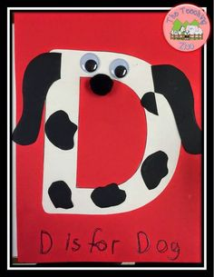 D is for Dog Letter of the Week D craft on The Teaching Zoo blog