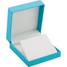 Aqua Blue Large Pendant Box...(61-0764:100000:T).! Price: $19.99 #pendantbox #jewelerybox #jewelery