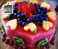 Co healthy birthday cakes, fruit birthday cake, healthy cake, wa. Healthy Birthday Cakes, Fruit Birthday Cake, Healthy Cake, Watermelon Birthday, Brithday Cake, Healthy Yogurt, Healthy Deserts, Vegan Snacks, Cake Made Of Fruit