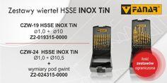 Zestawy wierteł HSSE INOX TiN