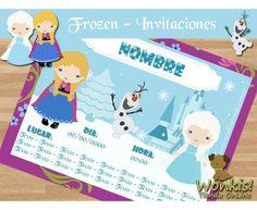 Frozen - Invitación Textos editables http://www.wonkistienda.com.ar/frozen-invitacion.html