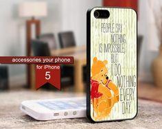 Winnie The Pooh Quotes 5 - iPhone 5 Black Case