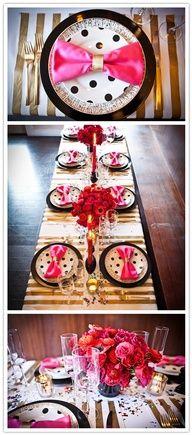 Knallige #Tischdeko für Pinkfans
