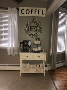 Here are 30 brilliant coffee station ideas for creating a little coffee corner that will help you decorate your home. Find and save ideas about Home coffee stations in this article. See more ideas about Coffee corner kitchen, Home coffee bars and Kitchen bar decor, Rustic Coffee Bar. #HomeDecorIdeas #HouseIdeas #CoffeeLovers #CoffeeTable #CoffeeStation #HomeBarDécor,