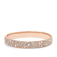 Pave Bangle- Gold- tone JF01017 | ®