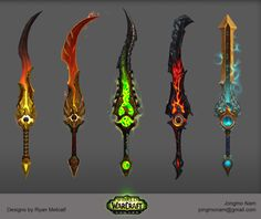 Artifact Weapons in World of Warcraft Legion. , Jongmo Nam on ArtStation at https://www.artstation.com/artwork/06ZEw