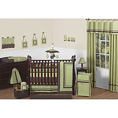 @Overstock - This nine-piece baby bedding set by JoJo Designs will help you create a stunning room for your child.  This set will fit all standard cribs and toddler beds, and is machine washable for easyhttp://www.overstock.com/Baby/Hotel-Green-9-piece-Crib-Bedding-Set/5735486/product.html?CID=214117 $189.99