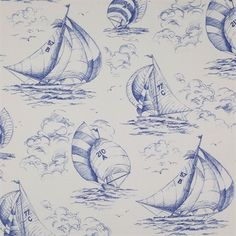 Spinnaker  Lovely vintage stye wall paper and fabric!