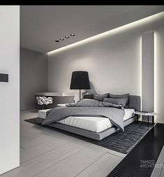 The grey bedroom
