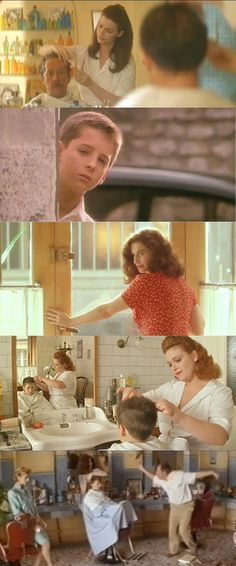 Jean Rochefort and Anna Galiena - Le mari de la coiffeuse (1990) directed by Patrice Leconte