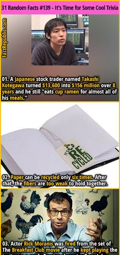 Funny Facts, Weird Facts, Crazy Facts, Random Facts, Random Stuff, The More You Know, Good To Know, Cup Ramen, Unique Facts
