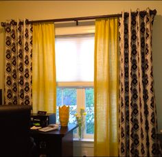 Curtains curtain rods and bedroom makeovers on pinterest for Nate berkus window treatments