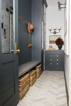 Mudroom Laundry Room, Mudroom Cabinets, Deco Design, Interior Exterior, Inspired Homes, My New Room, Style At Home, Home Fashion, House Plans