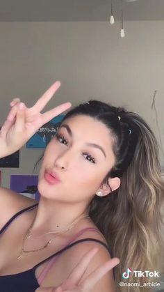 Easy Hairstyles For Long Hair, Up Hairstyles, Simple Hairstyles For School, Hair Up Styles, Hair Styler, Aesthetic Hair, Grunge Hair, Ariana Grande Hair Color, Ariana Grande Nails