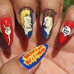 Beavis & Butthead! by victoriac07   #nail #nails #nailart