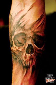 Skull Sleeve Tattoos, Sugar Skull Tattoos, Body Art Tattoos, New Tattoos, Tatoos, Sugar Tattoo, Wing Tattoos, Tattoo Tod, Diy Tattoo