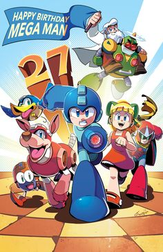 Happy 27th Birthday Mega Man by herms85.deviantart.com on @DeviantArt