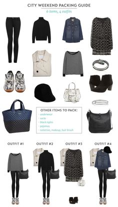 Fall City Packing Guide - 6 Items 4 Outfits
