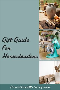 Find the perfect gift for your homesteader friend! The list includes everything from books to kitchen appliances, and everything in between. I've included a little something for everyone on this list. Find a special Christmas gift for someone you love. #giftideas #Christmasgifts #hoildaygifts