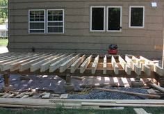 How to Build a Free Standing Deck on the Cheap