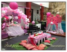 Princess birthday decoration and sweets table
