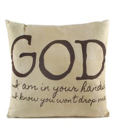 This 'In Your Hands' Pillow is perfect! #zulilyfinds