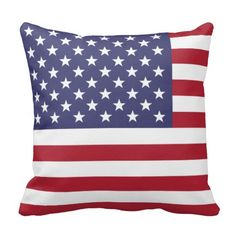 The national flag of the United States of America Throw Pillow