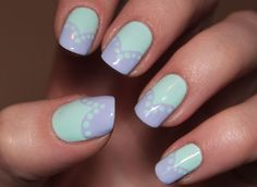 Mint and Lilac   Maybelline superstay Mint for life Gina tricot Lilac me Seche vite top coat