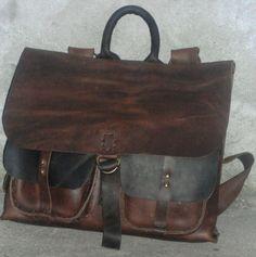 Luxury Leather Messenger Bag Handmade Men's Briefcase by NadiraBag