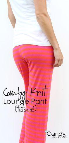 lounge pants tutorial http://icandy-handmade.com/2014/07/comfy-knit-lounge-pants-tutorial.html