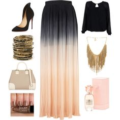 Ombré by amna15 on Polyvore featuring polyvore fashion style Coco's Fortune Christian Louboutin Tory Burch Amrita Singh BCBGMAXAZRIA Joan Vass