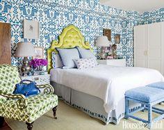 Ousadia com estampa e cor no decór do quarto • Living Gazette