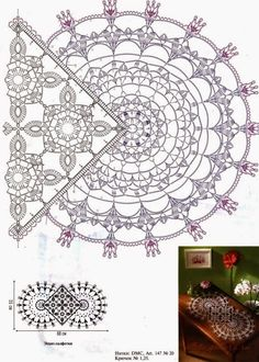 Online colleges to learn crocheting and knitting craft (Pattern) - Crochet Filet Crochet Doily Patterns, Crochet Diagram, Crochet Chart, Thread Crochet, Tunisian Crochet, Filet Crochet, Knit Crochet, Crochet Table Runner, Crochet Tablecloth