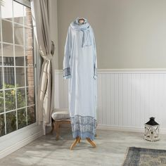 شرشف صلاة نسائي لون سماوي Decor Home Decor Wardrobe Rack