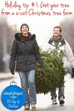 Holiday Tip #1! Get exercise while you pick out your tree! #Idealshape #weightloss #christmas