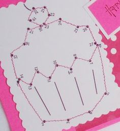 printable dot-to-dot sewing cards for the kids to practice sewing.