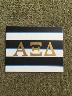 Purdue Alpha Xi Delta striped kate spade big little sorority canvas