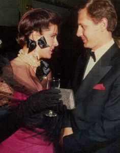 Caroline and Stefano, at a black tie event