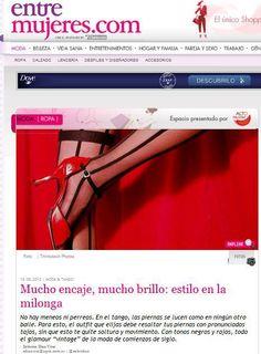Entre Mujeres  Nota sobre la moda tanguera.  (Agosto de 2012).