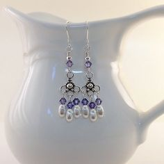 Elegant Tanzanite and Sterling Earrings by CinLynnBoutique on Etsy, $24.00