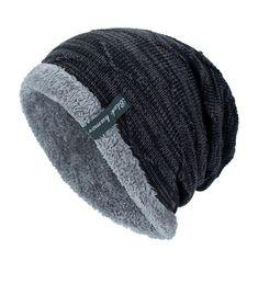 e27e51e666b Black Humor Unisex Winter Knitting Skull Cap Wool Slouchy Beanie Hat Black  CQ188NZTTG7