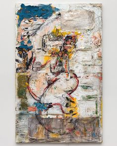"257 Likes, 5 Comments - Daniel Crews-Chubb (@danielcrewschubb) on Instagram: ""Yasigi broken (blue yellow white), 2017 Oil, acrylic, ink, spray paint, charcoal, coarse pumice gel…"""