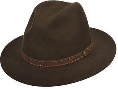 Scala Men's DF169 Safari Hat with Contrast Stitch