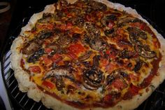 "Our friend Lou M. made this delicious looking gluten-free pizza in her NuWave Oven! She used gluten-free dough from a mix and added all of her favorite ingredients. For those of you who don't own the NuWave Supreme Pizza Kit, Lou provided instructions on how to make delicious pizza. She said, ""I can't tell you how good this was, and best of all, the kitchen stayed cool!"""