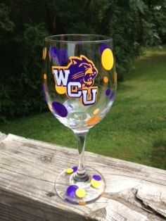 Western Carolina University wine glass by BeetlebugAdorables, $6.00