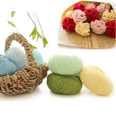 10pcs/lot Good Quality Super Soft Cotton Yarn 100% Organic Cotton Threads Yarns To Knit For Hand Knitting Crochet Free Shipping