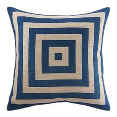 "18"" Novlety concentric Squard Pattern Print Cotton Linen Decorative Pillow Cover – EUR € 13.19"